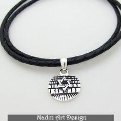 Jüdische Halskette / Davidstern Anhänger Halskette von NadinArtDesign auf DaWanda.com