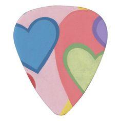 Colorful Hearts Layered Custom Guitar Picks Guitar Pick #guitarpicks #hearts #music