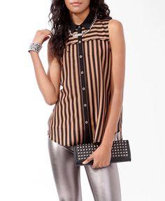 Beautiful sleeveless striped shirt :)