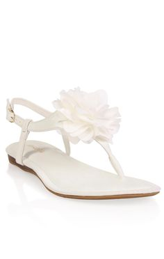 Deb Shops t-strap #sandal with chiffon #flower top