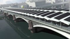The new solar roof spanning Blackfriars Railway Bridge above the River Thames will cover more than 6,000 square meters when finished.