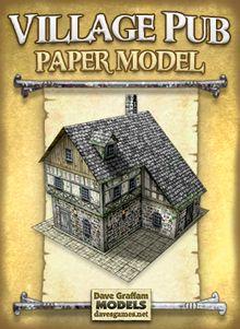 Village Pub Paper Model | Dave's Games