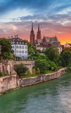 In Basel, Switzerland. Beautiful Places To Visit, Great Places, Places To See, Grindelwald, Rhine River Cruise, Europe Centrale, Berne, Places In Switzerland, Stations De Ski