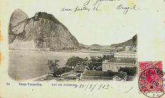 Cartão postal com vista da Praia Vermelha, Rio de Janeiro, 1903