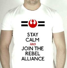 Star Wars Rebel Alliance White TShirt by repurposefulPUNK Who cares if it's for guys? I want one!