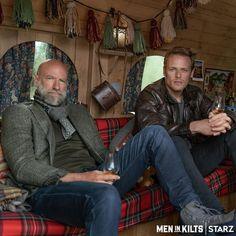 Graham Mctavish, Outlander Tv Series, Outlander Funny, Outlander Casting, Scottish Actors, Sam Heughan Outlander, Gabaldon Outlander, Sam And Cait, Men In Kilts