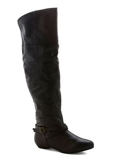 Black to Night Sighting Boot - Black, Solid, Buckles, Steampunk, Faux Leather, Low