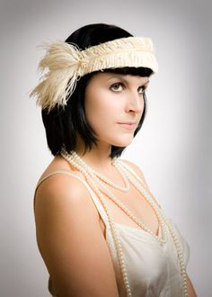 Cut ostrich band - great!!! Lilly Lewis Millinery