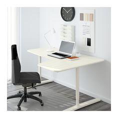 BEKANT Combinación escritorio ala dcha - blanco - IKEA