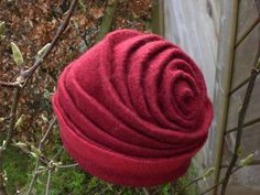 Amazing sculpted and felted rose hat