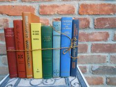 Vintage Instant Library RAINBOW Collection.  Vintage Home Decor.  ROYGBIV.