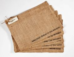 Mind your Manners ~ Placemats - Placemats ~ Enjoy free US Shipping at checkout  LITALIA.COM
