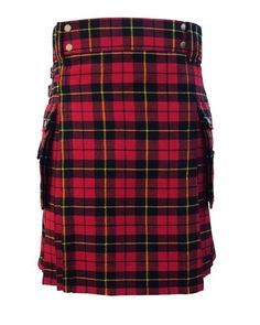 Mcdonald Modern Utility Tartan Kilt is very popular Scottish Traditional Tartan Kilt. MacDonald Tartan Clan Kilt is made of easy to maintain Acrylic wool so you can take care of any stains during the casual parties or sporting events. Scottish Clothing, Scottish Kilts, Tactical Kilt, Kilt Shop, Wallace Tartan, Macdonald Tartan, Kilts For Sale, Modern Kilts, Kilt Belt
