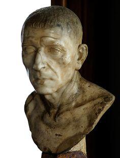 Cicero, Roman bust (marble), 1st century BC, (Galleria degli Uffizi, Florence).