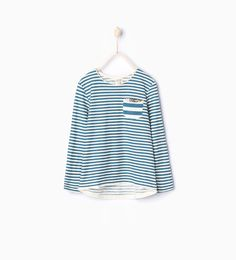 Striped sequinned T-shirt-Long Sleeve-T-shirts-Girl (3-14 years)-KIDS | ZARA United Kingdom
