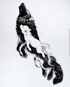 The wolf mother Mor lived with her daughter Awyr in the eastern plains. In the s… The wolf mother Mor lived with her daughter Awyr in the eastern plains. In the sun they travelled and played. In the moonlight Mor hunted… Anime Wolf, Wolf Tattoos, Lion Tattoo, Cute Drawings, Animal Drawings, Wolf Drawings, Cool Tattoo Drawings, Horse Drawings, Pencil Drawings