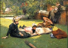 In the garden by James Tissot