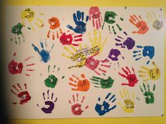 When my son was in 4th grade and had a particularly serious bout with asthma, which took him away from school and into the hospital for a while, his teacher, Ms. Blackwell, got a large three fold poster board and had each of his classmates to imprint their little hands into the board, along with a message.  Being a classroom teacher, I know what kind of disruption anything out of the ordinary can be, but Ms. Blackwell, didn't mind, and the result was a happy little boy who had this poster…