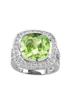 Kelly Herd Gorgeous Green Halo Ring