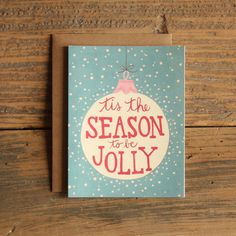 Tis the Season Illustrated Cards boxed set of 8 by 1canoe2 on Etsy, $19.00