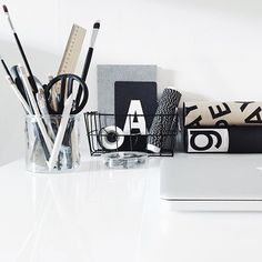 Black and white stationery