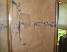 Ever wish you had a built in storage area in your shower? A quick remodeling project could make your wish come true