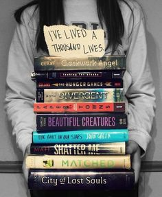 Pinner says: I've read and fell in love with The Hunger Games, Divergent (Favorite Book EVER!), Beautiful Creatures (The Whole Series), The Fault in Our Stars (Another Favorite) and I am reading Clockwork Angel now! Might try and read the rest (Looking for Alaska is boring though...)