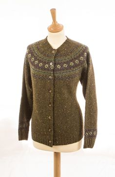 Fair Isle Yoke Cardigan Ballycastle