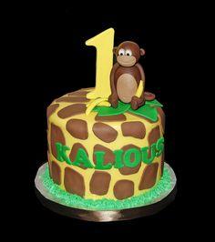 Giraffe cake ElephantsGiraffesmonkeylionsafarijungle zoo