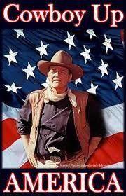 Do the Right Thing...Vote Romney & Ryan.  Cowboy up America!  John wayne poster.