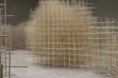 Ben Butler's Dizzing Maze Playground Created With Thousands Of Sticks