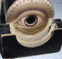 Antique Victorian  Optician Eye  Box / Optical / Optometrists / Oculist  / Eye Doctor   / Medical Collectible. $85.00, via Etsy.