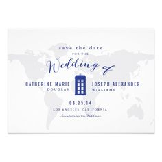 Doctor Who Inspired Save the Date // by Origami Prints
