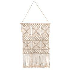 URBAN ecru cotton macramé woven wall hanging H 62 cm