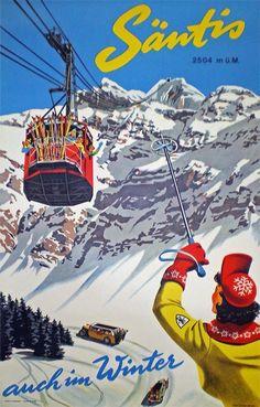 Nostalgic Poster from the Switzerland – Nostalgisches Nostalgic Poster from the Switzerland – Nostalgisches Tourism Poster, Poster S, Travel Ads, Travel Tours, Travel Photos, Vintage Ski Posters, Vintage Ads, Retro Illustration, Illustrations