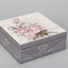 Handmade decoupage box made of wood for accessories interior decor ideas gift Decoupage Vintage, Decoupage Art, Cigar Box Crafts, Altered Cigar Boxes, Interior Decorating Tips, Pretty Box, Jewellery Boxes, Craft Box, Diy Box