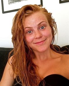 """Karen is from Norway and as a young girl she always wanted to color her hair blonde or brown to 'fit in'. She received comments like, """"You should tan more and wear foundation to hide your ugly freckles."""" These comments made her feel worthless and unhappy."""
