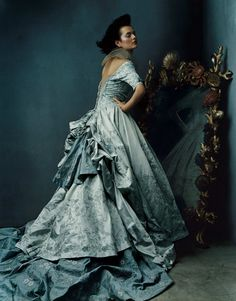 Melody & Mist: Robin's Egg Blue Satin Gown, By Pucci.