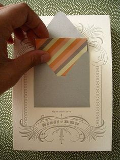 glue a tiny, cute envelope and card to a bigger card