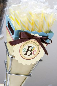 A is for Alphabet - Baby Shower Candy Bouquets with Sticklettes