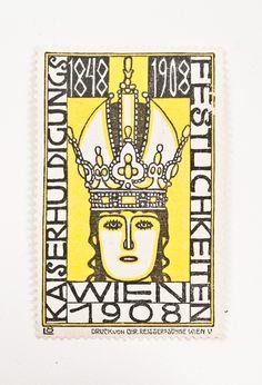 Berthold Loeffler [Wiener Werkstätte], 'Kaiserhuldigungs festlichkeiten', Wien 1908, seal, 3,5 x 2,3 cm.