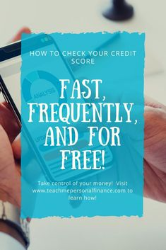 When it comes to your finances, one number looms large as an indicator of your financial health. Shouldn't you know how to check your credit score? How To Fix Credit, Check Your Credit Score, Improve Your Credit Score, Credit Report, Identity Theft, Money Saving Tips, Money Tips, Money Savers, Finance Tips