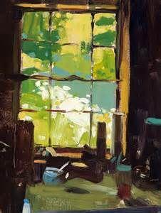 Tollef Runquist Kitchen Window Flowers oil.