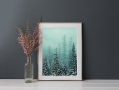 First Snow - Winter forest oil painting