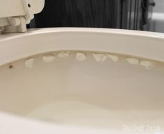 Great way to get rid of hard water stains that are unreachable. Gonna try this !,,,