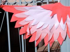 Kid's play bird wing costume  Children's Electric Neon Pink Feathers by LockNessieCreations, $32.00