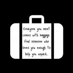 Baggage quote on suitcase by TerriInVA