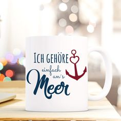 Most current Pic Ceramics cups diy Thoughts Geschenk Tasse mit Anker und Spruch **Geschenk Tasse mit Spruch** Small Gifts For Friends, Little Gifts, Graduation Gifts For Girlfriend, Marble Mugs, Cute Cups, Picture Gifts, Original Gifts, Ceramic Cups, Gifts In A Mug