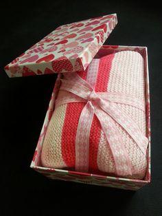 Baby blanket for babygirl / handmade knitting