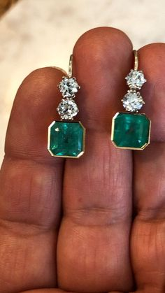 Jewellery Shops Eastgardens by Emerald Earrings Square beneath Jewellery Jewellery Organizer but Jewellery Stores Mall Of Africa Diamond Dangle Earrings, Emerald Earrings, Emerald Jewelry, Gems Jewelry, Diamond Jewelry, Jewelry Accessories, Fine Jewelry, Jewelry Design, Helix Earrings